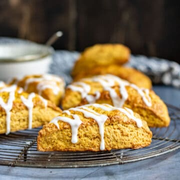 Scones on a cooling rack.
